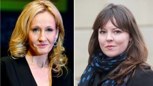 Split screen of Rowling and McGarry