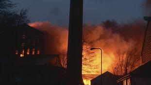 Report: 100 firefighters tackle Bradford mill blaze