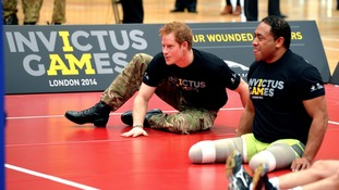 Prince Harry visits Bath University for UK Invictus Games trials