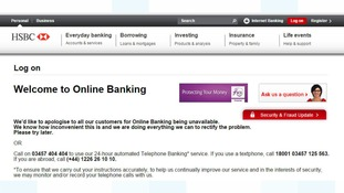 HSBC working to get banking site back online for all customers after foiling cyber attack