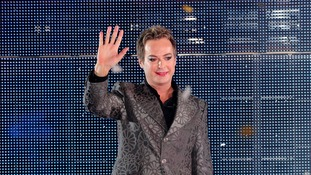 Julian Clary leaves the Celebrity Big Brother House as the winner.