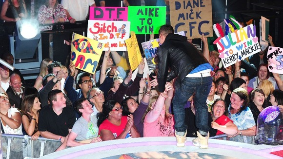 "Crowds greet Mike ""The Situation"" Sorrentino as he leaves the Celebrity Big Brother house."