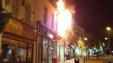 The fire broke out in Middle Street last night.
