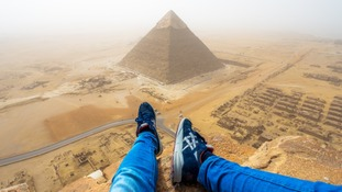 Teenager films himself illegally scaling Egyptian pyramid