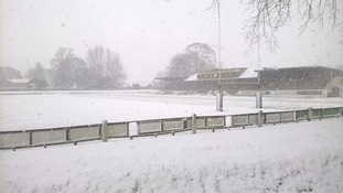 Melrose RFC covered in snow