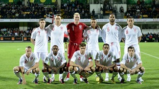 England starting team against Moldova