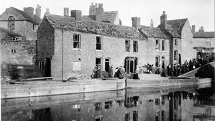Zeppelin raid damage in Tipton
