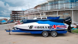 The twenty thousand pound 'Bullet' speedboat
