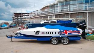 The twenty thousand pound 'Bullet' speedboat