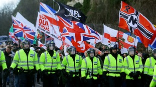 Far-right and anti-fascist groups clash at protests in Dover