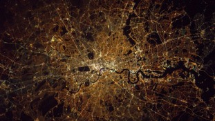 London from space at midnight last night.
