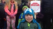 Protest in Stranraer