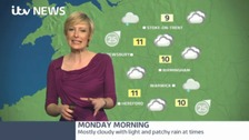 West Midlands: mostly cloudy with light patchy rain