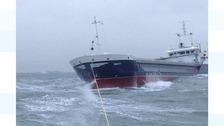 RNLI crews spend 24 hours at sea in 'marathon' rescue