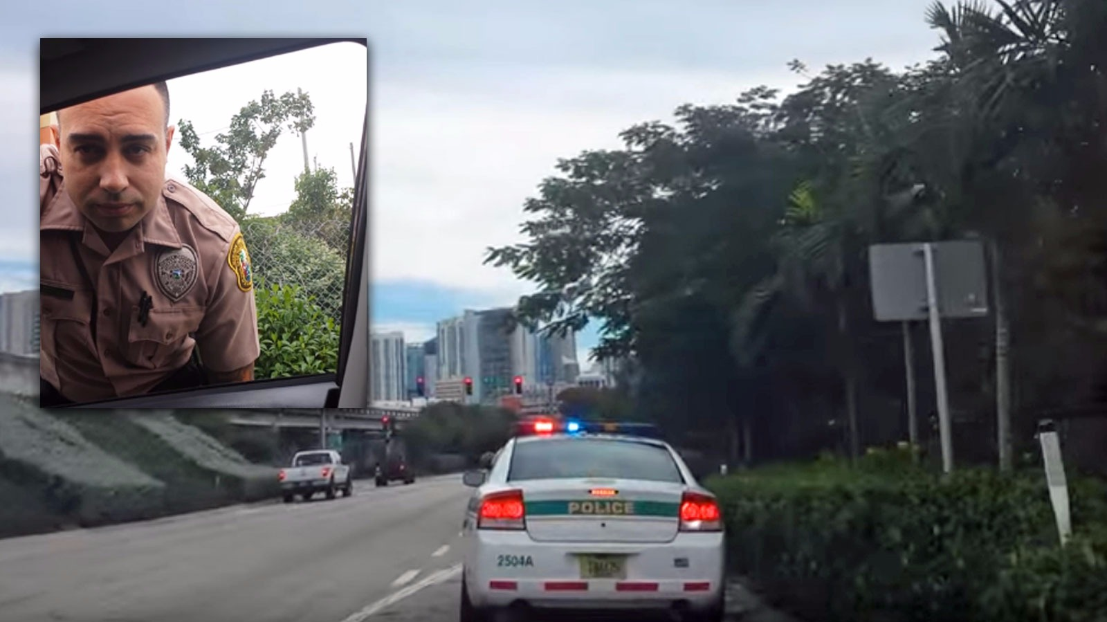 Pulled Over By Cops : A fair cop police officer is pulled over for speeding