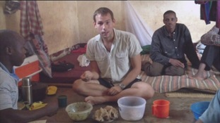 The cramped conditions David Simpson had to endure in his Central African Republic prison cell