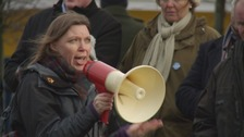 One hundred protest against closure of dementia centre