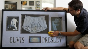 A pair of briefs belonging to Elvis Presley were unsold at the auction