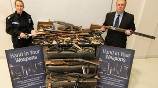 Hundreds of weapons surrendered during amnesty