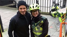 Beckham buys tea and coffee for paramedic and her patient