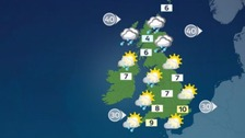 Weather: Windy start with outbreaks of rain