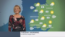 Wales Weather: Cold but bright start to Tuesday
