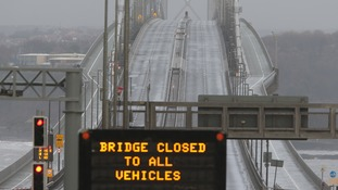 The Forth Road Bridge has been affected by winter storms