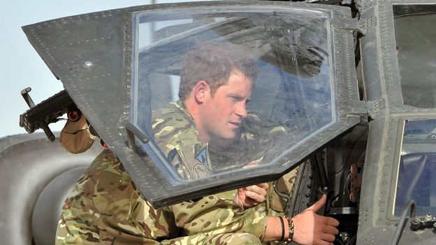 Prince Harry pictured at Camp Bastion.