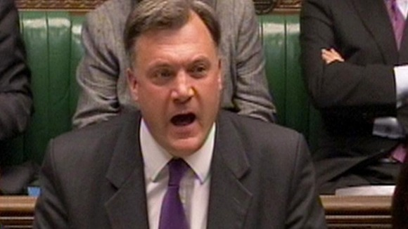 Shadow Chancellor Ed Balls.