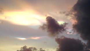 Rainbow clouds over Leicester