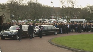 Hundreds of mourners pay their respects at Caitlin Ruddy's funeral