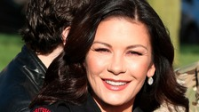 Catherine Zeta Jones loves Whitby's fish and chips!