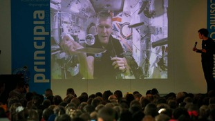 Tim Peake demonstrated experiments from space