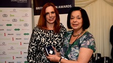 Karen's mum Sylvia presented with a 'British Citizen Award'.