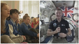 Ground control to Major Tim! Swansea youngsters make space call to astronaut Tim Peake