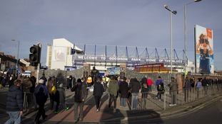 Fans at Goodison