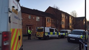 Police at the scene of the murder in Allerton Bywater