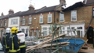 Three people evacuated after house collapses