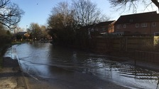 Burst water main causes hour-long tailbacks for drivers