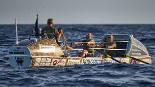 The veterans are taking part in the Talisker Whisky Atlantic Challenge