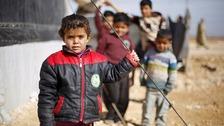 Syrian children in a camp