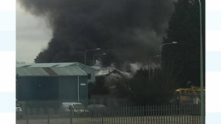 Fire at a Lowestoft industrial estate