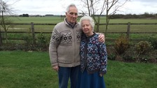 John and Dot Parsons at their home in Northamptonshire