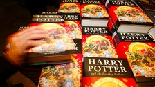 Copies of the final Harry Potter book 'The Deathly Hallows'