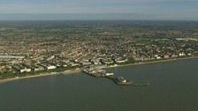 The coastline at Clacton.