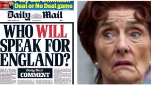 'Who will speak for England?' asks the Daily Mail - Twitter swiftly responds