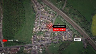 The fire happened at a home on Pilsley Road in Morton.