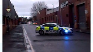 Response officers at the scene