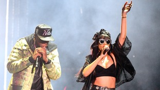 Jay-Z and Rihanna performing at Radio 1's Hackney Weekend in June