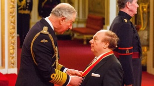 Here comes the knight! Charles makes Van Morrison a sir at Buckingham Palace